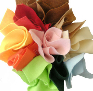 10 Pack Felt Sheets  Warm Colors 9 x 11