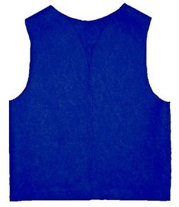 "FELT Royal Blue Patch Vest with Yellow Lettering ""Moose"""