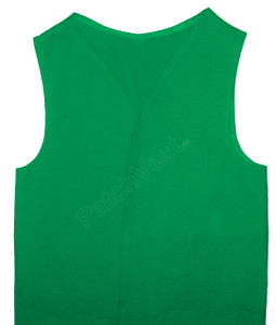 Green Twill Patch Vest