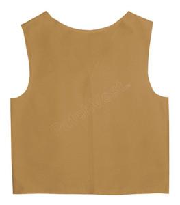 Bulk Order Khaki Twill Patch Vest