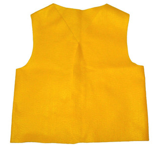 8 Large Youth Felt Yellow Patch Vest