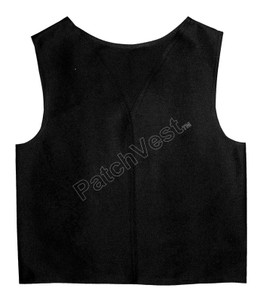 Youth Black Twill Patch Vest