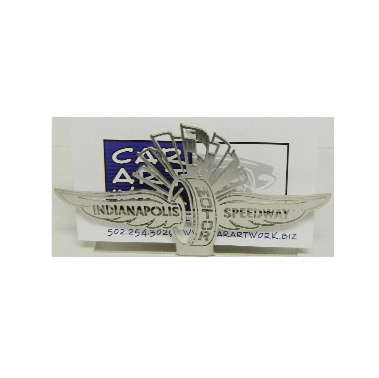 Wing wheel and flag stainless steel business card holder wing wheel and flag stainless steel business card holder colourmoves