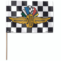 Indianapolis Motor Speedway Stick Checkered Flag / 12x18