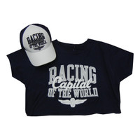 Ladies Indianapolis Motor Speedway Road Course Hat Tee Combo