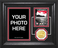"""DROPSHIP"" INDYCAR ""Fan Memories"" Bronze Coin Desktop Photo Mint"