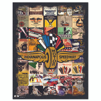 Wing Wheel and Flag Program Covers Tin Sign