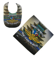 Indianapolis Motor Speedway Bib and Burp Cloth Set