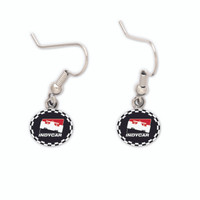 INDYCAR Checkered Earrings