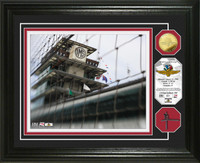 Indianapolis Motor Speedway Authentic Catch Fence Gold Coin Photo Mint