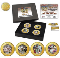 A.J. Foyt 4-Time Winner Coin Set