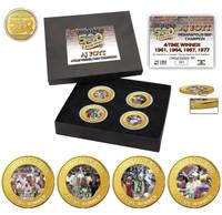 A.J. Foyt 4-Time Winner Coin Set