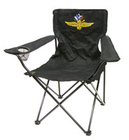 Wing Wheel and Flag Collapsible Quad Chair