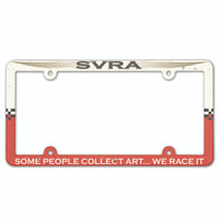 2016 SVRA Plastic License Frame