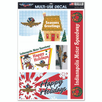 Indianapolis Motor Speedway 11x17 Holiday Window Decal Sheet