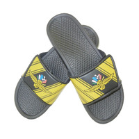 Wing Wheel and Flag Track Velcro Sport Slide Sandals