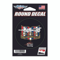 A.J. Foyt Racing Round Decal
