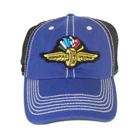 Wing Wheel and Flag Royal Blue Chasis Cap