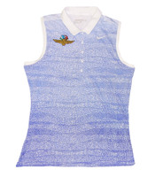 Ladies Wing Wheel and Flag Zebra Fade Sleeveless Nike Polo