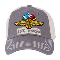 Wing Wheel and Flag Clag Flex Fit Cap