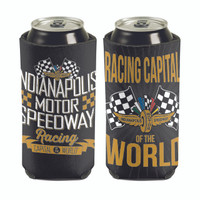 Wing Wheel and Flag Track 2-Sided 16oz Can Cooler
