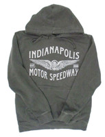 Wing Wheel and Flag Charcoal Pigment Hoodie