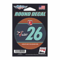 Zach Veach Round Driver Decal