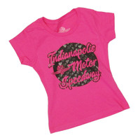 Girls Wing Wheel and Flags Heart Races Tee