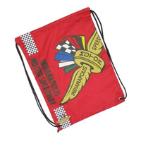 Wing Wheel and Flag Big Logo Drawstring Backpack