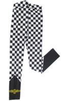 Ladies Wing And Wheel Checked Yoga Pants