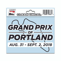 2018 Grand Prix of Portland Clear Event Decal
