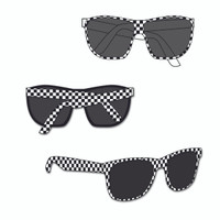 Indianapolis Motor Speedway Ladies Checkered Sunglasses