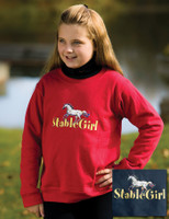 Stable Girl Crew Neck Sweatshirt, Sizes Small & Medium Only