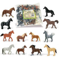 Safari Horses Bulk Bag - 48 Pieces