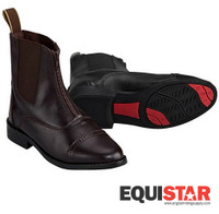 EquiStar Leather Zip Paddock Boots, Sizes 11 & 1 Only