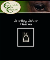Sterling Silver Charm - Medium Stirrup