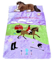 Girls Love Horses Slumber Bag
