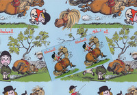 Thelwell Ponies Gift Wrap with Tags