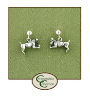 Sterling Jack Russell Earrings