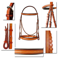 Edgewood Padded Fancy Bridle and Reins, Pony & Cob