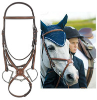 Rodrigo Figure 8 Jumper Bridle with Rubber Reins, Cob Size