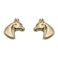 Gold Pony Head Earrings