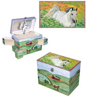 Horse Hideaway Musical Jewelry Box  sc 1 st  Just for Ponies & Equestrian Jewelry Boxes Aboutintivar.Com