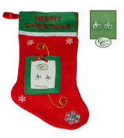 Sterling Dee Bit Earrings with Christmas Stocking
