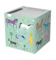 Rainbow Horses Paper Cube