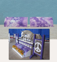 Purple Tie Dye Roll Top for Model Horse Jumps
