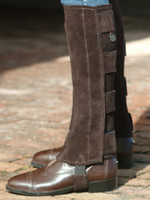 Ovation Suede Half Chaps with Hook & Loop Tabs, Brown & Black