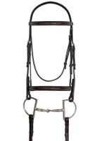 Ovation Raised Fancy Stitched Padded Bridle, Pony & Cob
