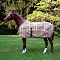 Baker Turnout Fly Sheet, Original Baker Plaid