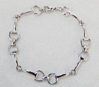 Mini Snaffle Bit Bracelet, Silver